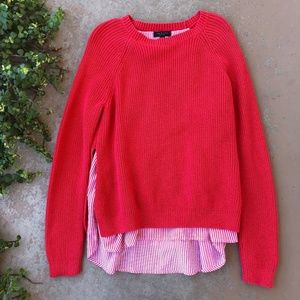 Rag & Bone Red Layered Pullover Sweater